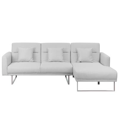 Stan L-Shaped Sofa Bed - Silver, Sofa beds by HipVan | HipVan