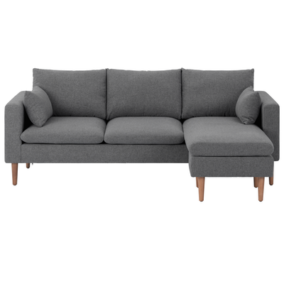 Apartment Sofas By Hipvan Alicia L Shape Sofa Dark Grey