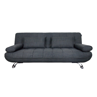 Home and style clifford 3 seater sofa bed grey hipvan for Sofa bed 400