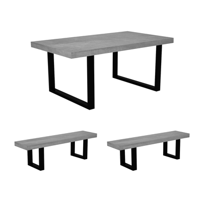 Martlewood Casa Dining Table 18m With 2 Benches