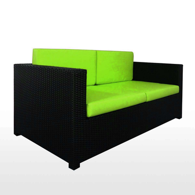 Black Fiesta Sofa Set II with Green Cushions - Image 2