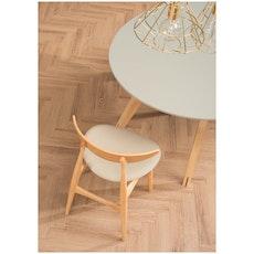 Tricia Dining Chair Cowhide - Walnut, Espresso