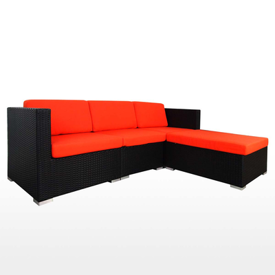 Summer Modular Sofa Set with Orange Cushions - Image 2