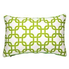 Lattice Rectangle Cushion - Apple Green