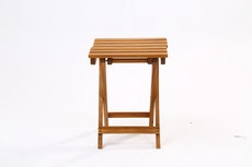 (As-Is) Acacia Small Square Folding Table - 1