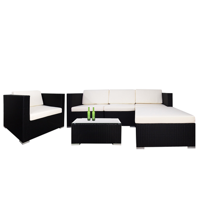 Summer Modular Sofa Set with Creamy White Cushions - Image 1