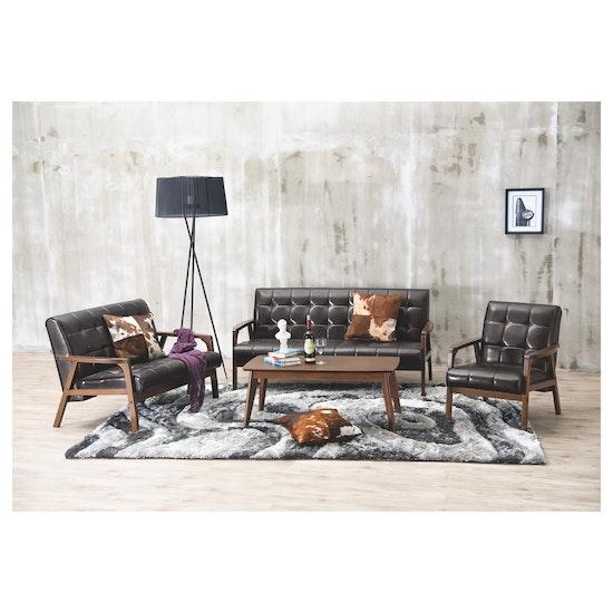 Shape - Tucson 3 Seater Sofa - Cocoa, Espresso (Faux Leather)