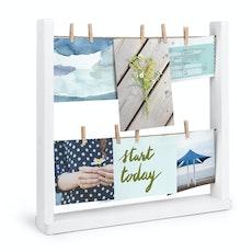 Hangit Desk Photo Display - White