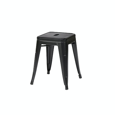 (As-Is) Tolix Stool - Matte Black - 3