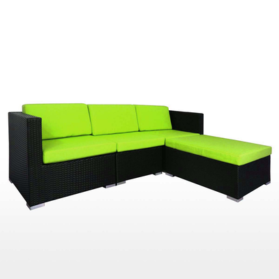 Summer Modular Sofa Set with Green Cushions - Image 2