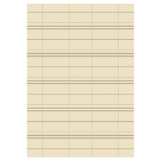 Essenza Plaid Rug - Cream