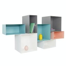 Baxter Rectangular Metal Box Shelf - Matt Nude