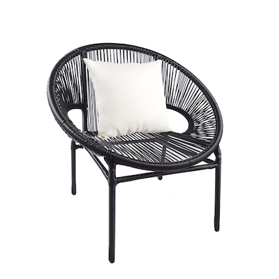 Shelton Patio Set with White Pillow