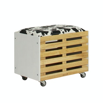 Zahra Crate Storage - White - Image 1