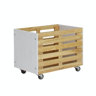 Zahra Crate Storage - White