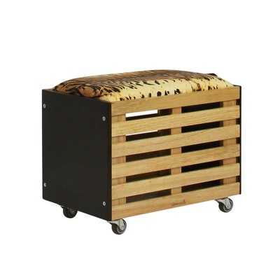 Zahra Crate Storage - Brown - Image 1