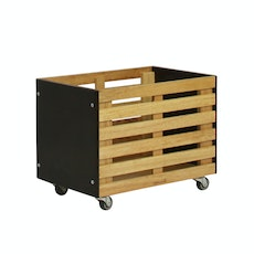 Zahra Crate Storage - Brown
