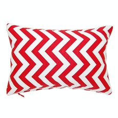 Chevron Rectangle Cushion - Red