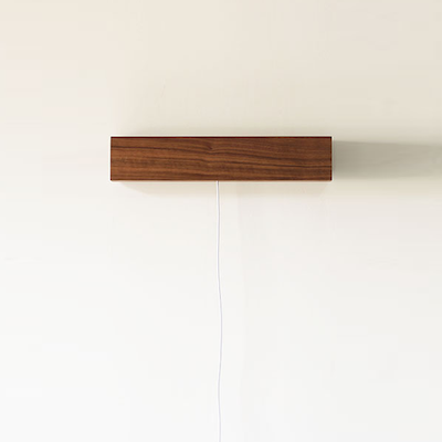 Wooden USB LED Bedside Wall Lamp - Dark Brown - Image 1