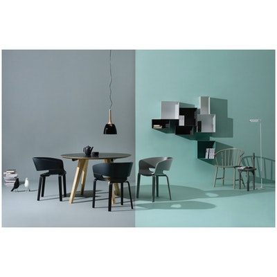 (As-is) Huela Dining Chair - Grey Lacquered - 1 - Image 2