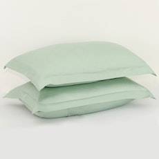 LUXE Pillow Case (Set of 2) - Aqua Smoke