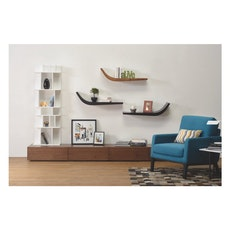 Eustace Right Wall Shelf - Black Ash