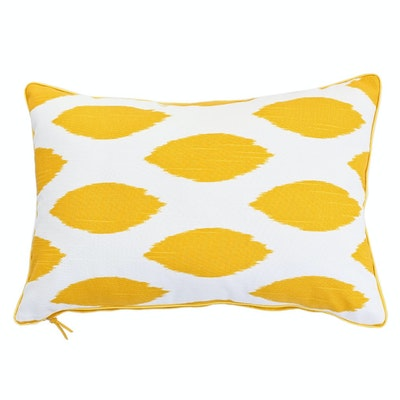 Ikat Rectangle Cushion - Yellow - Image 1