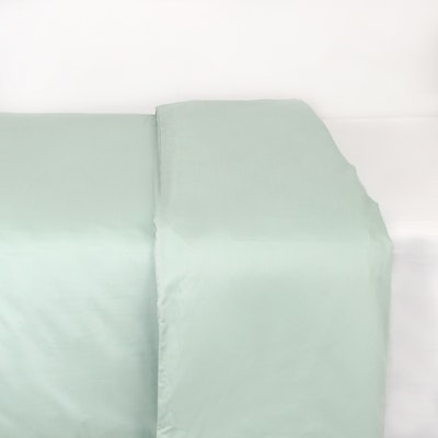 (Single/Super Single) LUXE Duvet Cover - Aqua Smoke - Image 1