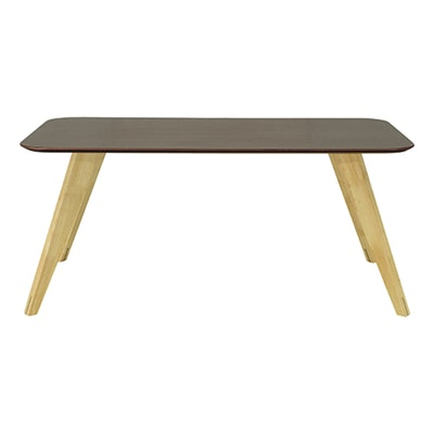 (As is) Ryder Dining Table 1.8m - Dust Brown Lacquered, Oak - 1 - Image 1