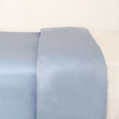 (Single/Super Single) LUXE Duvet Cover - Dusty Blue - Image 1