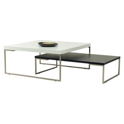 Myron Square Coffee Table - Oak, Matt Black - Image 2