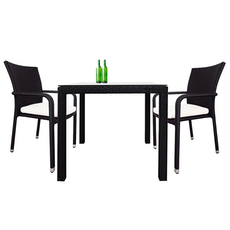 Palm Dining Couple Set with White Cushions