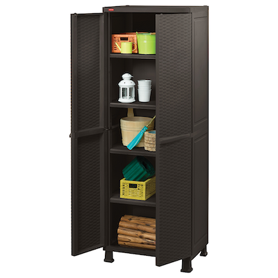 Rattan Utility Cabinet with Legs - Image 1