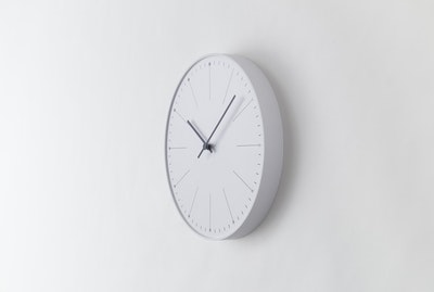 Dandelion Wall Clock - White