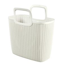 Knit Garden Basket - Oasis White