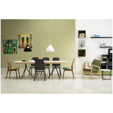 Maddie Dining Chair - Walnut, Jade