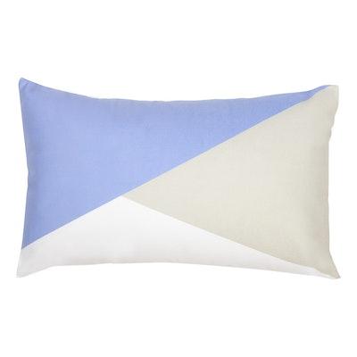 Colourblock Lumbar Cushion - Serenity/Grey - Image 1