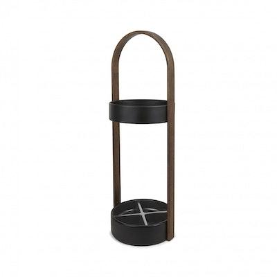 Hub Umbrella Stand - Black, Walnut - Image 1