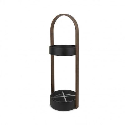 Hub Umbrella Stand - Black/Walnut