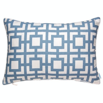 Gigi Rectangle Cushion - Blue - Image 2
