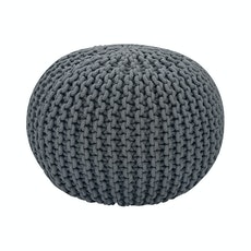 Knitted Pouffe - Charcoal Grey
