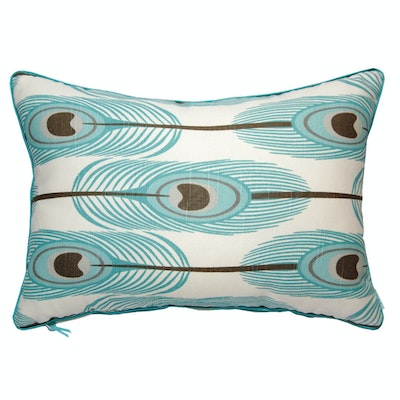 Feathers Rectangle Cushion - Blue