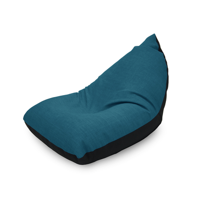 Doodle Triangle Bean Bag - Blue - Image 1