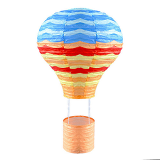 Stripes Hot Air Balloon Lantern (Pack of 2)
