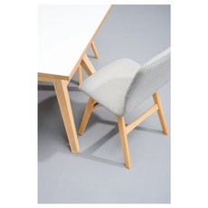 Santorini Dining Chair - Oak, White (Set of 2)
