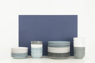 EVERYDAY 6-Pc Side Plate Set - Dark Grey
