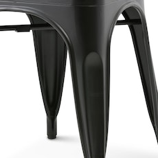 Tolix High Stool - Matte Black