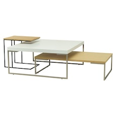 Berlin Rectangle Coffee Table - Black Ash, Matt Black