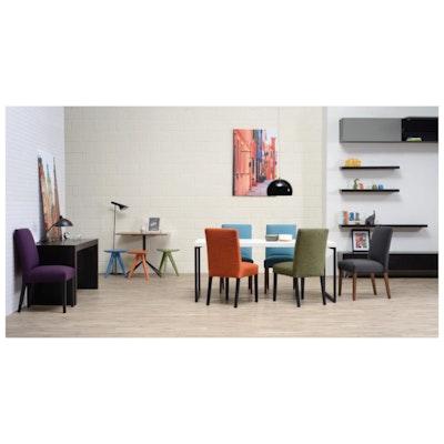 Helga Dining Chair - Walnut, Clover - Image 2