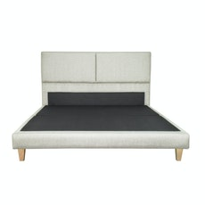 Chester Headboard Bed - Silver Grey (Fabric)